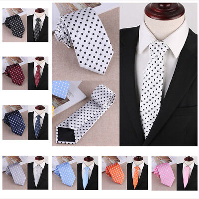 Casual Woven Polka Dot Formal Business Suit Mens Classic Tie Necktie Fashion New