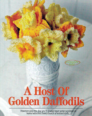 Knitting Pattern Daffodil Flower Pot Chocolate Orange Cover Or 10