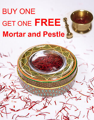 5 grams Pure Finest Premium Saffron Threads + Mortar & Pestle | Grade A++