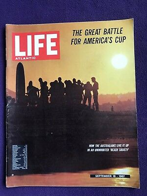 LIFE magazine Sep 18th 1967 AUSTRALIA BEACH SOCIETY Psychedelic Poster Art