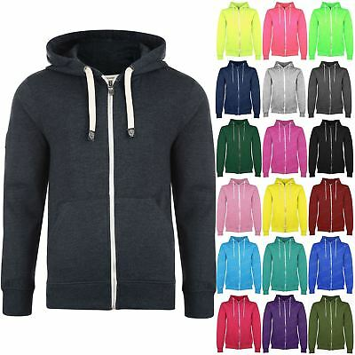 Boys Girls Kids Unisex Fleece Plain Knitted Sweatshirt Hoody Hoodies Jumper Top