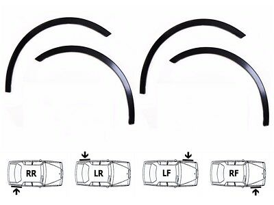 ALFA ROMEO 147 FL 04-10 Wing Wheel Arch Trim NEW Set 4 pcs Front Rear Black Matt