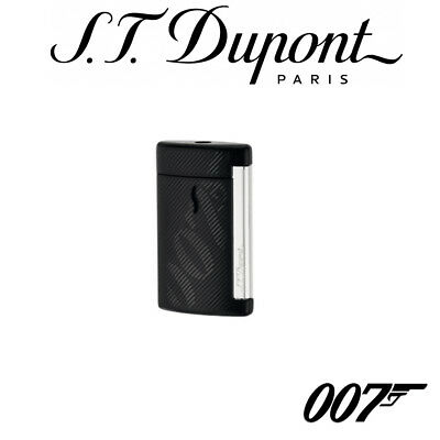 NEW ST Dupont James Bond Collection Matt Black MiniJet Lighter 010114 S T