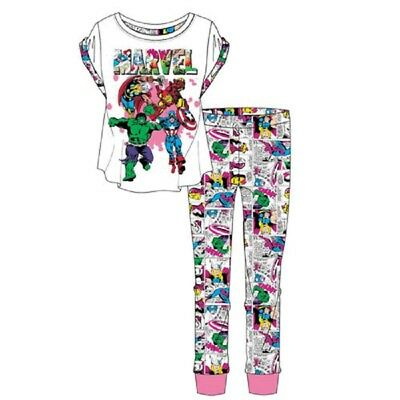 Women's Girls Marvel comic 100% cotton official licensed product Pyjamas Pjs