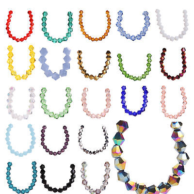 50pcs 8mm Bicone Faceted Crystal Glass Loose Spacer Beads Jewelry Making Bead