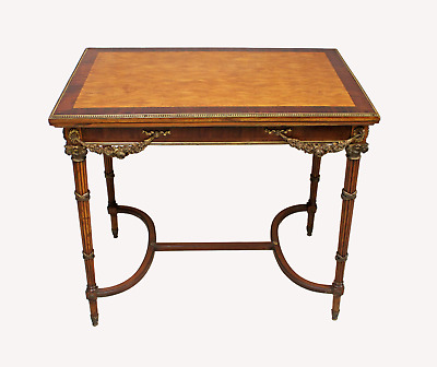 A French Kingwood And Parquetry Card Table In The Manner Of E.kahn