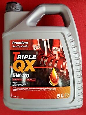 Engine Oil Triple QX Premium SAE 5W30 Part Semi Synthetic 5 Litre