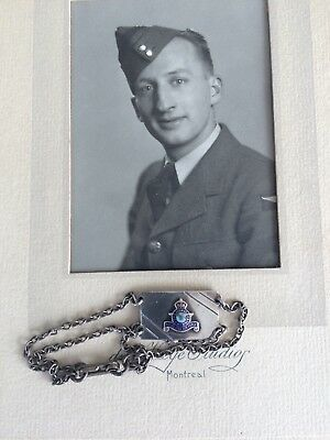 Vintage Rcaf Ww2 Sterling Silver Sweetheart Military Soldier Id Bracelet