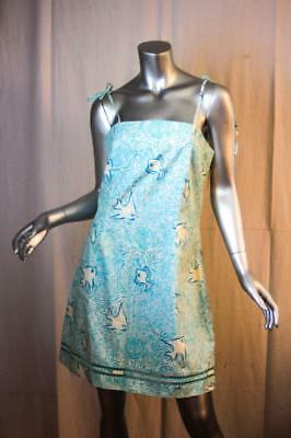 Vintage LILLY PULITZER Blue White Fish Glow In The Dark Sun Dress Size 12 NWT