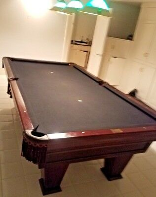 BRUNSWICK POOL TABLE Waccessories Great Cond PicClick - Brunswick sherwood pool table