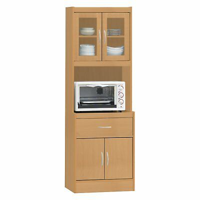 Exceptionnel Kitchen Microwave Stand Storage Cabinet Cupboard Tall Pantry Organizer Wood  Cart