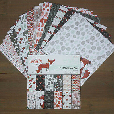 DIY Pads Cutting Dies Paper Craft Scrapbooking Foxes Origami Art Background