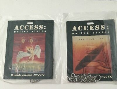 Two Sealed Led Zeppelin Vintage GTS Long Distance Prepaid 10 Min. Phone Cards