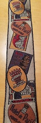 Vtg Woven Silk Braces/Suspenders Hotel Luggage Labels/New Without Tags