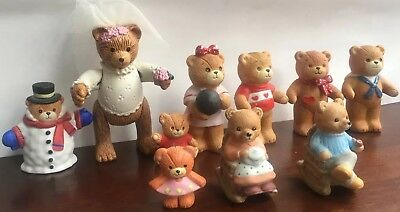 VINTAGE 1980s ENESCO Lot of 10 Lucy & Me BEARS Good Condition