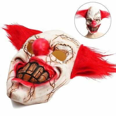 Halloween Party Scary Creepy Novelty Clown Mask It Killing Haunted House Costume