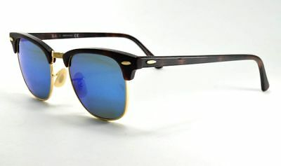 55f08655c2 Ray-Ban RB3016 CLUBMASTER 1145 17 Havana   Gold   Grey Mirror Blue  Sunglasses