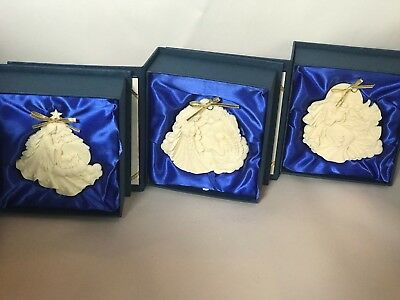 Lot of 3 Roman Millenium Ornaments in Box Signed & Numbered 1st - 2nd & 3rd Edt
