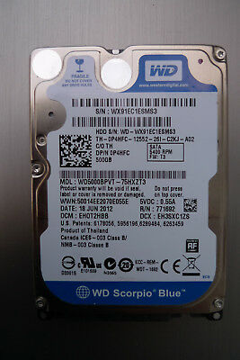 HDD Western Digital Blue 500GB WD5000BPVT laptop hard drive