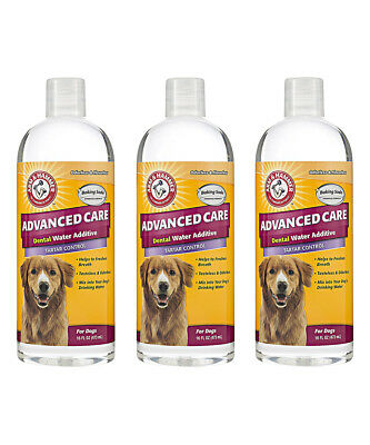 3-Pack Arm & Hammer Advanced Care Pets Dog Dental Water Additive Tartar Control