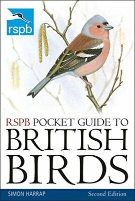 RSPB Pocket Guide to British Birds: Second ed by Simon Harrap New Paperback Book