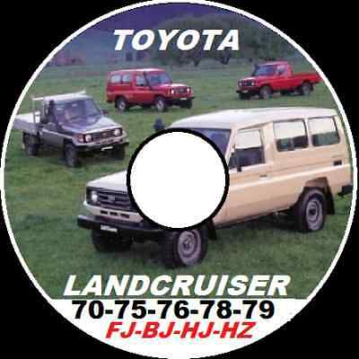Toyota Land Cruiser Fj,Bj,Hj,Hz 70,73,75 Series Restoration Workshop Cd