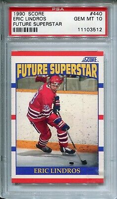 1990/91 Score American ERIC LINDROS Flyers Leafs Stars RC Rookie Card PSA 10 HOF