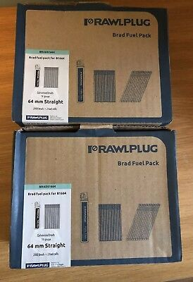 2x Rawlplug BRADS1664 2000pk 16G x 64mm Straight Galv Brads 2 Fuel Cell