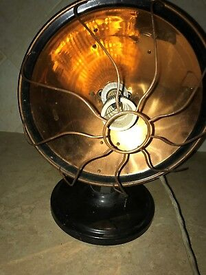 ANTIQUE    GLOW  COPPER  RADIANT  HEATER - ! not working