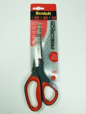 "NEW Scotch Precision Scissors 8"" Inches Stainless Steel 3M #1448 School Home"