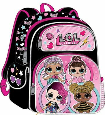 "LOL Surprise Deluxe Backpack 16"" - Girls School Knapsack Cute Kids Childrens"