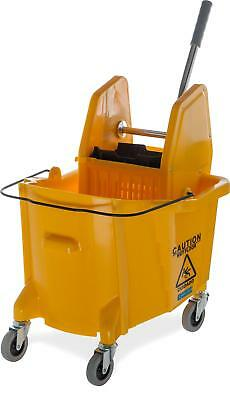 Carlisle 3690504 Commercial Mop Bucket With Down Press Wringer, 35 Quart