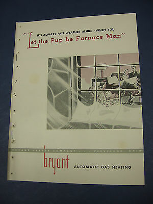 BRYANT HEATING 1940's Catalog ASBESTOS Air Cell Insulation BOILERS