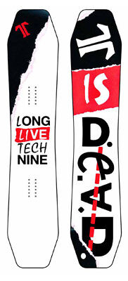BRAND NEW Technine T9 IS DEAD Snowboard WHITE/BLACK/RED 153cm DS17 LIMITED RARE