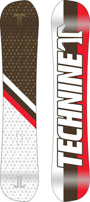 BRAND NEW Technine ASYM HERITAGE Snowboard 152cm WHITE/RED/BROWN DS17 LIMITED