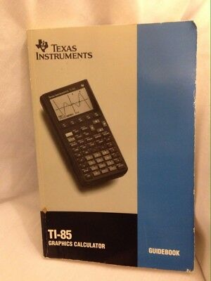 TI-85 Texas Instruments Graphic Calculator Manual/Guidebook ONLY 1993 Version
