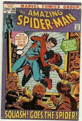 Amazing Spider-Man # 106 [Face Reveal] Nice copy