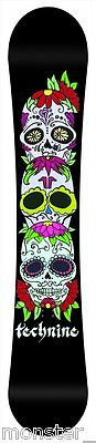 BRAND NEW Technine SKULL Snowboard 136cm BLACK TECH9 DS 16 LIMITED RELEASE