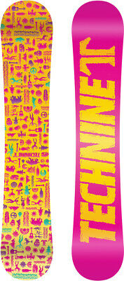 BRAND NEW Technine SKULL Snowboard 140cm PINK TECH9 DS 17 LIMITED RELEASE WOMENS