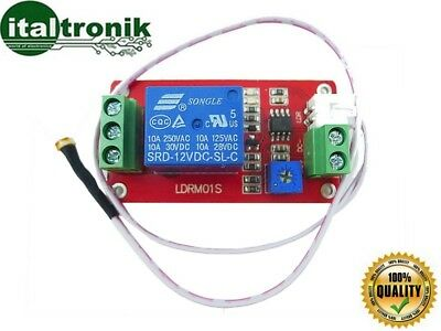 Control Unit On Off 1 Channel With Sensor Brightness' Light 12V Relay' Switch