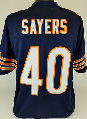 0ae7ce1e78f Gale Sayers Unsigned Custom Sewn Blue Football Jersey Size - L, XL, 2XL