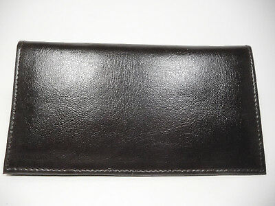 Marshal  Brown Padded Man-Made Leather Checkbook Cover-1 Card, Insert-156PU-BR