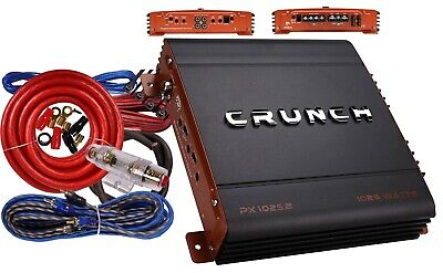 Crunch PX1000.2 1000 Watts 2-Channel Class AB Car Amplifier w/ Free Amp Kit