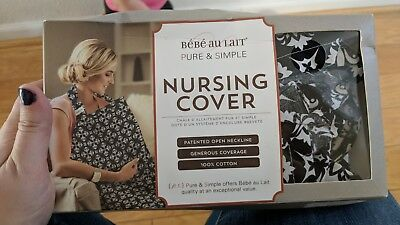 Bebe au Lait Premium Cotton Nursing Cover, black