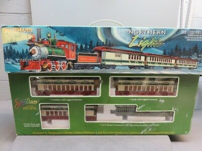 The Northern Lights Limited is a Complete & Ready to Run On30 Scale Electric Tra