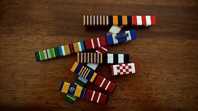 Australian medal ribbon bar. Customise your medal ribbon bar