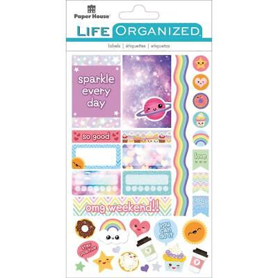 Life Organized - Kawaii Planner Stickers 4 Sticker Pages in Pack 95 Cute Pieces