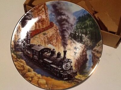 Above The Canyon From Golden Age Of American Railroads Plate Collection