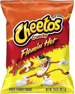 Cheetos Crunchy Flamin' Hot Cheese Snacks (3.5 oz ea 28 ct