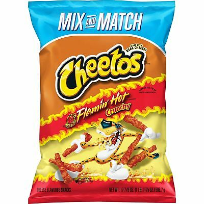 Cheetos Crunchy Flamin' Hot Cheese Flavored Snacks (17.875 oz